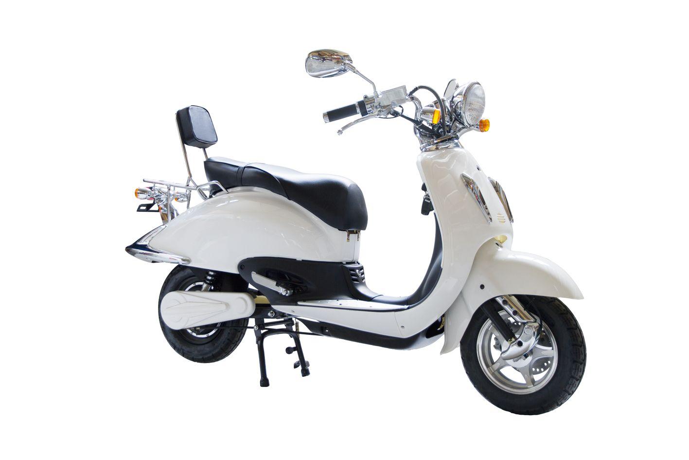 nieuwe scooters grande retro elektische scooter. Black Bedroom Furniture Sets. Home Design Ideas